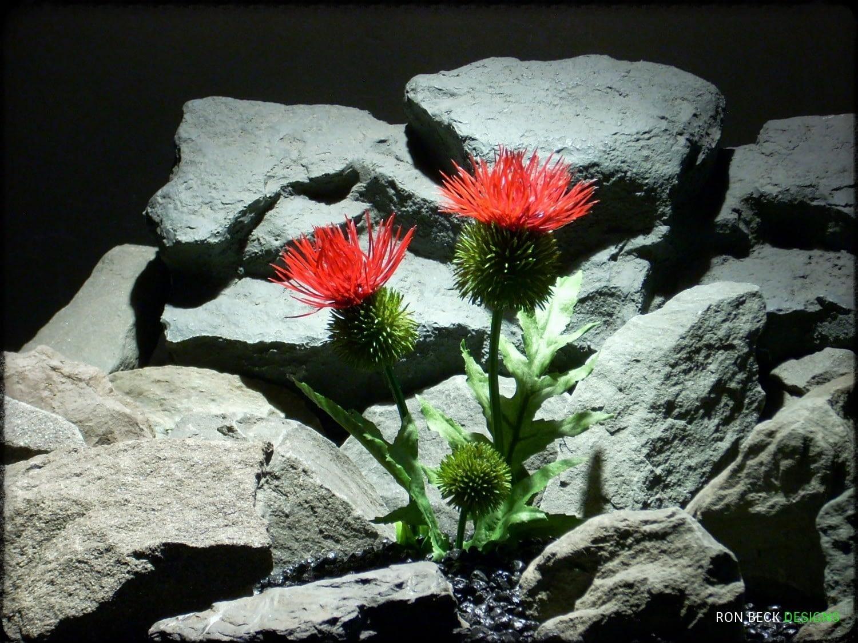 Artificial Cactus Flower - Artificial Reptile Amphibian Plant Cactus prp295