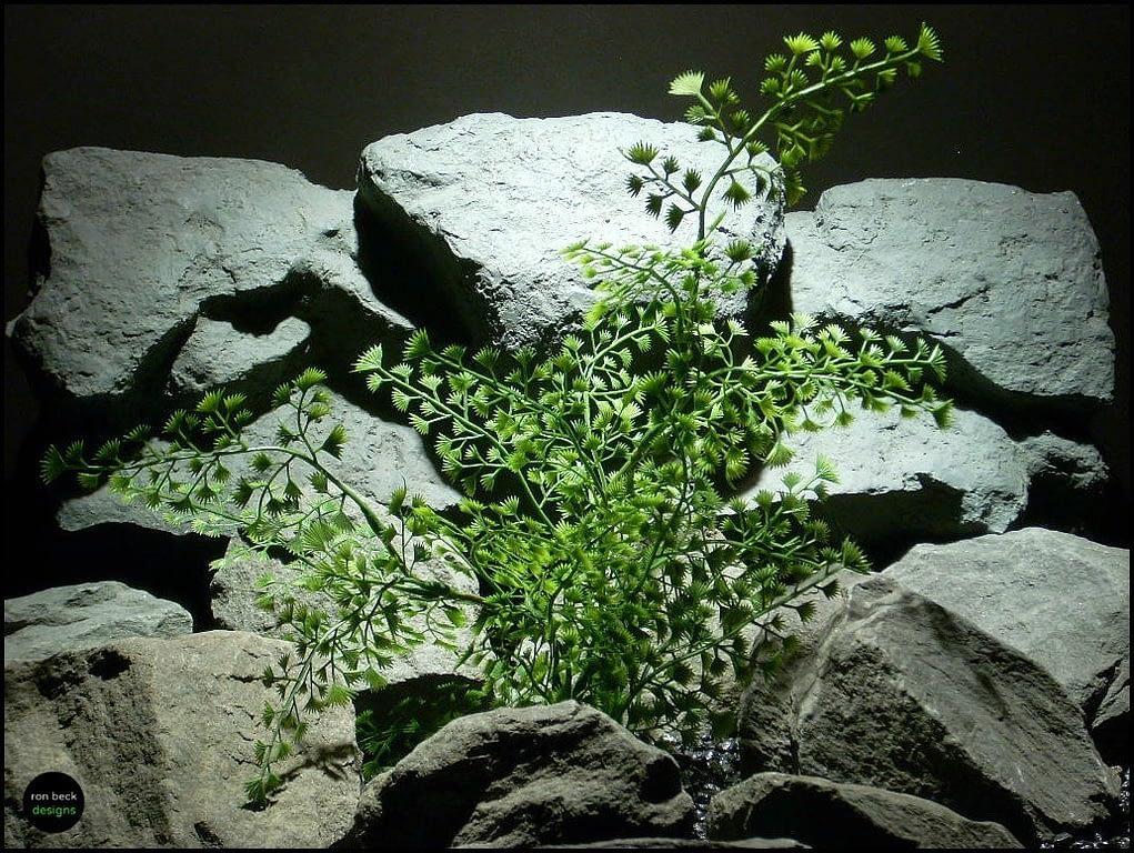 plastic aquarium plant mini fan bush pap119 ron beck designs