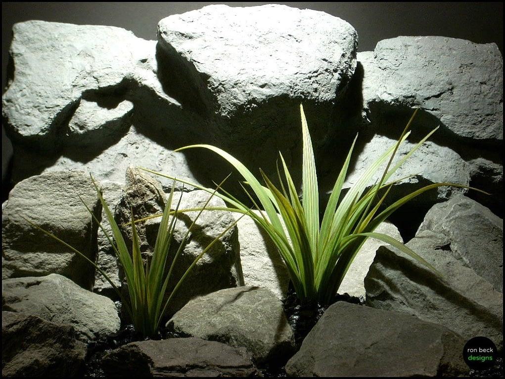 plastic aquarium or reptile plant wild river grass pap144 from ron beck designs