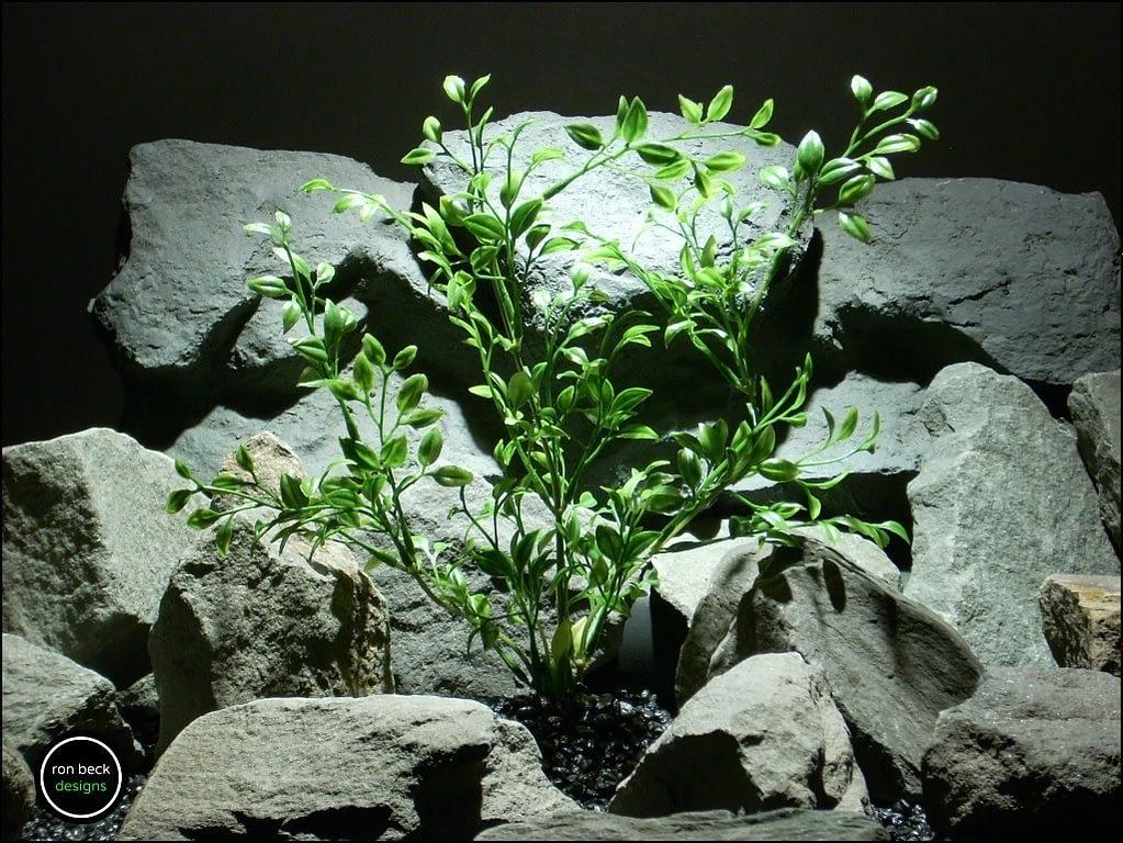 plastic aquarium plant tea leaf pap165 from ron beck dedsigns