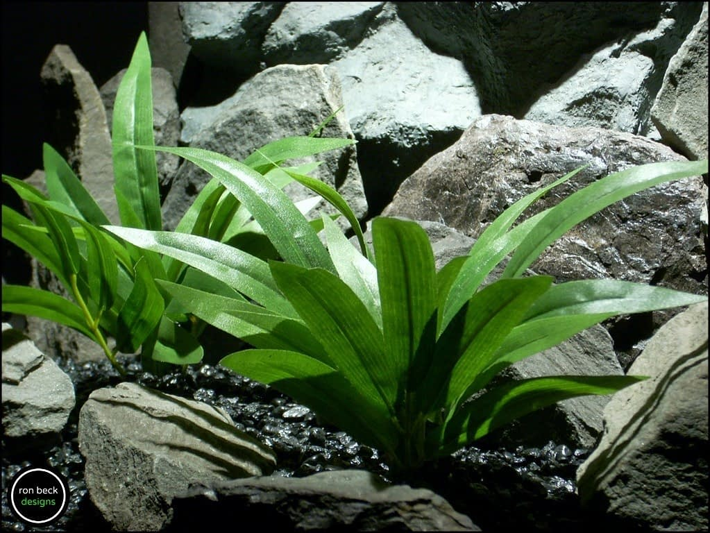 silk aquarium plants palm grass from ron beck designs. sarp192 2
