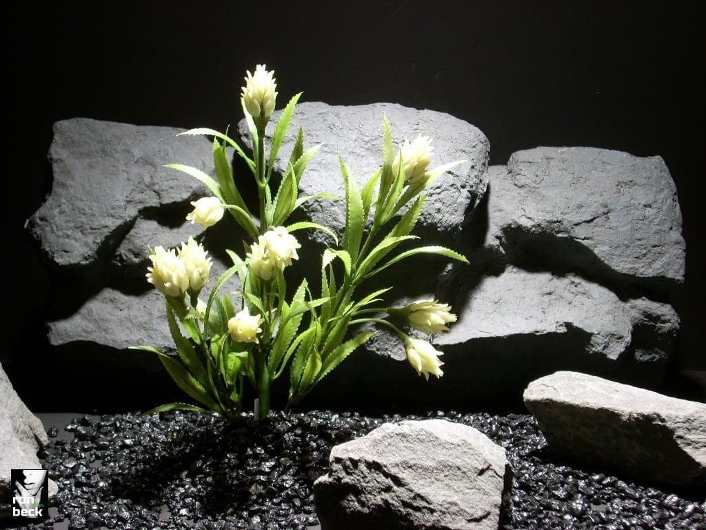 plastic aquarium plants protea white pap parp056 | ron beck designs