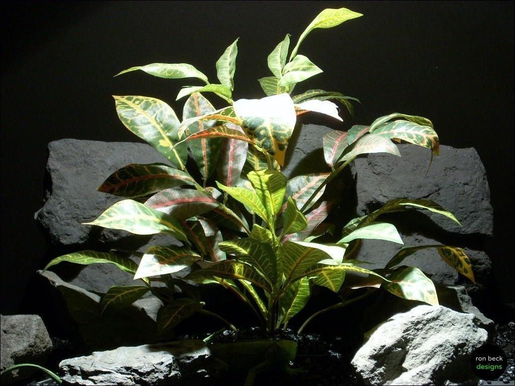 silk reptile habitat plants croton leaves bush srp075 ron beck designs