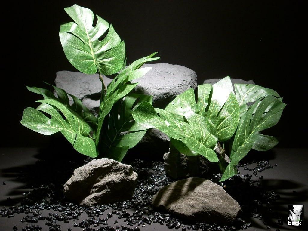 silk reptile habitat plants split leaf philo sap404 silk ron beck designs