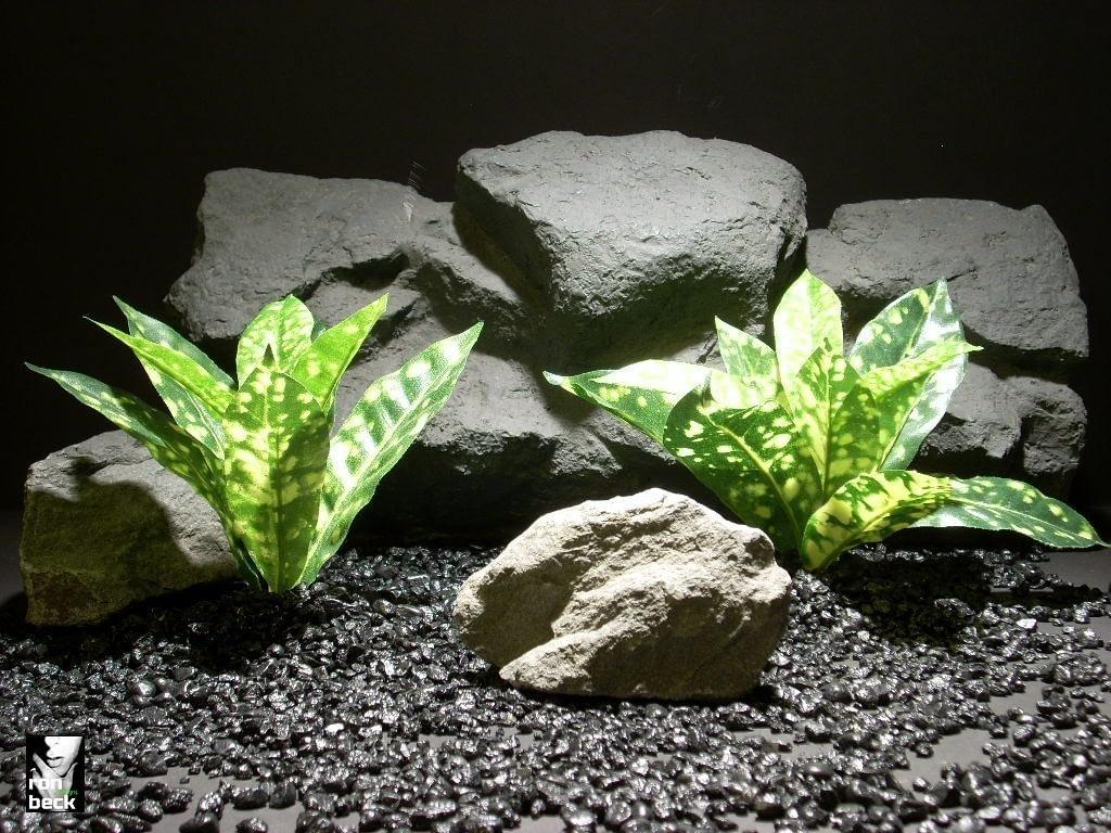 silk aquarium plants croton leaves set vargtd, sap406 silk