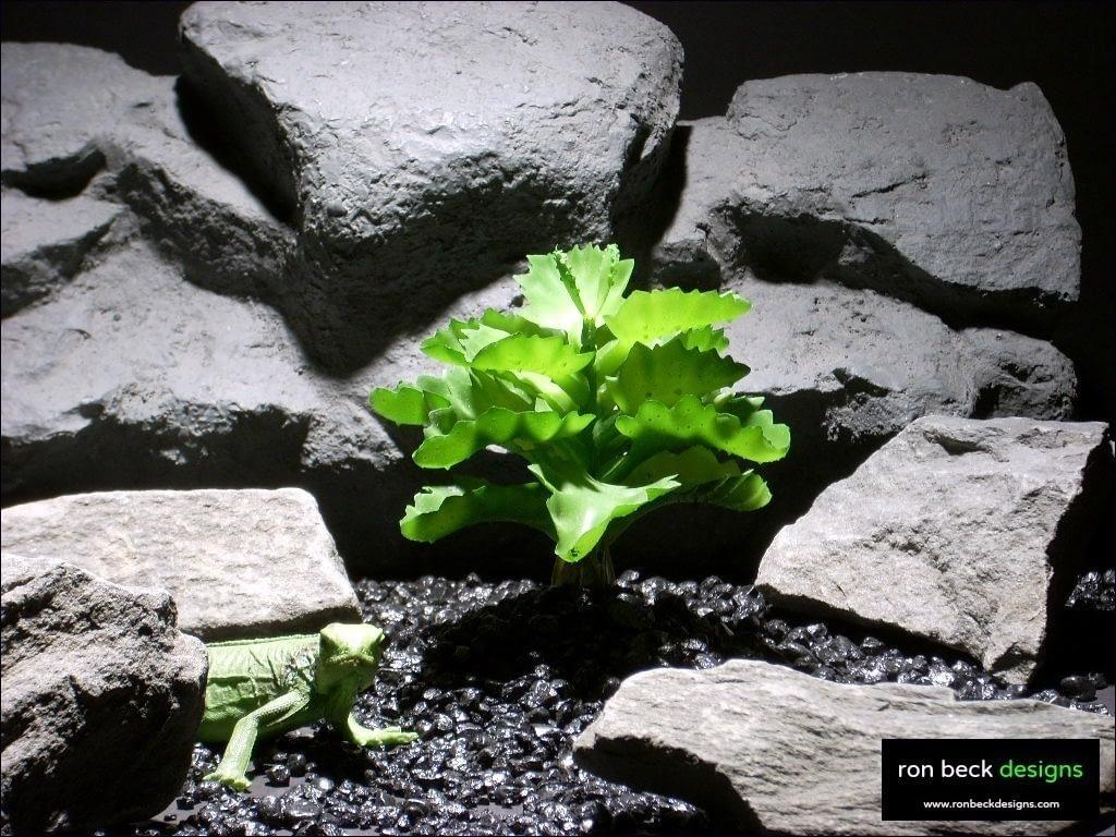 reptile habitat plants succulent bush prp024 plastic latex  ron beck designs