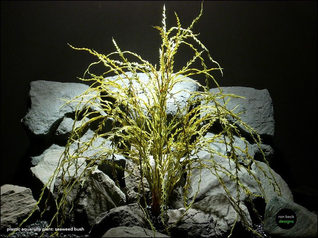 plastic aquarium decor plant seaweed bush pap111 by ron beck designs