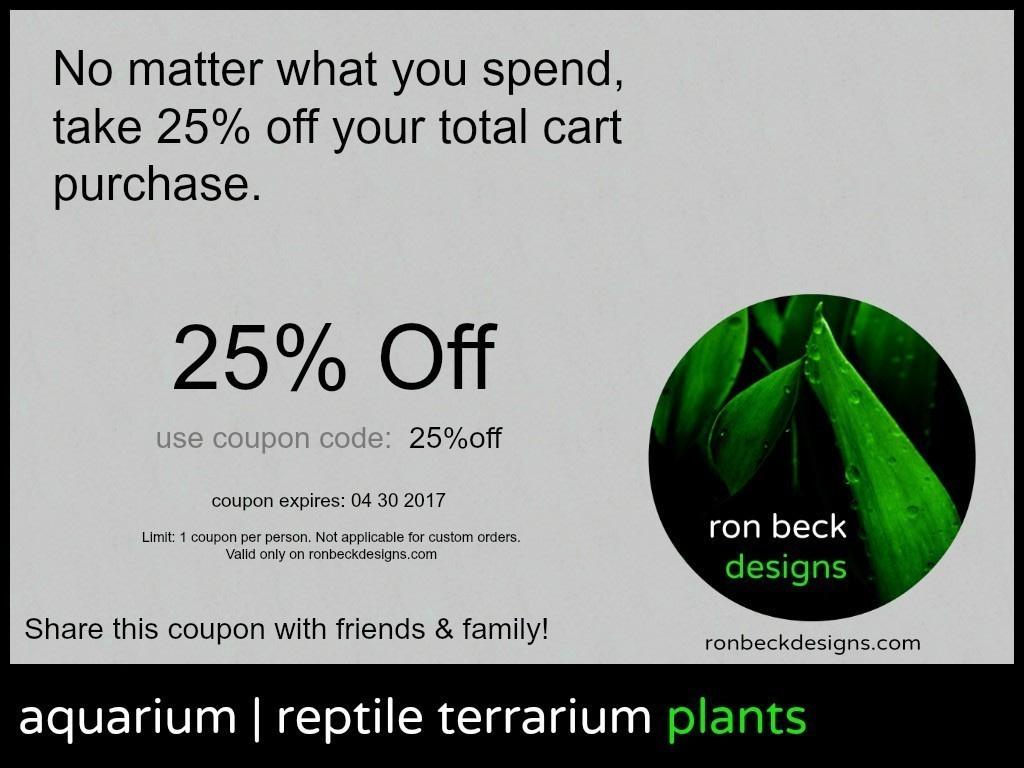 coupon 25 off cart total ron beck designs | ronbeckdesigns.com