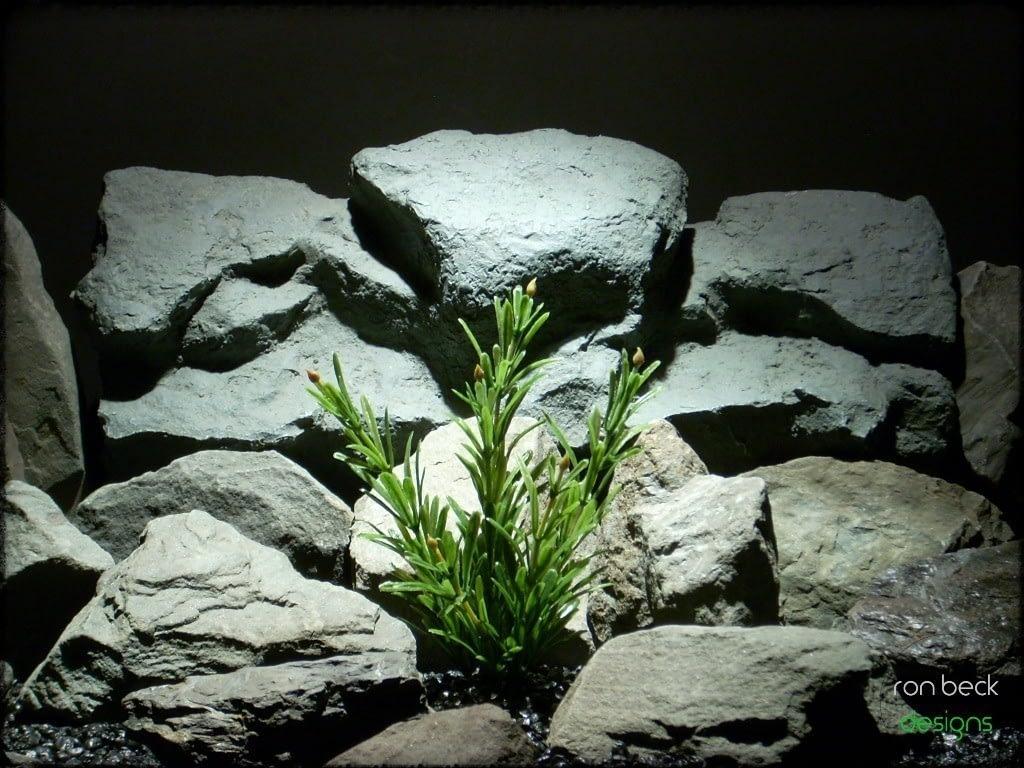 plastic aquarium plant juniper bush from ron beck designs. pap217