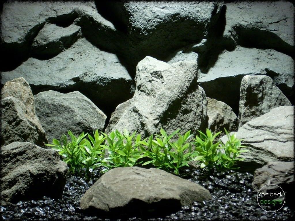 dwarf mini leaf plot plastic aquarium plants pap243