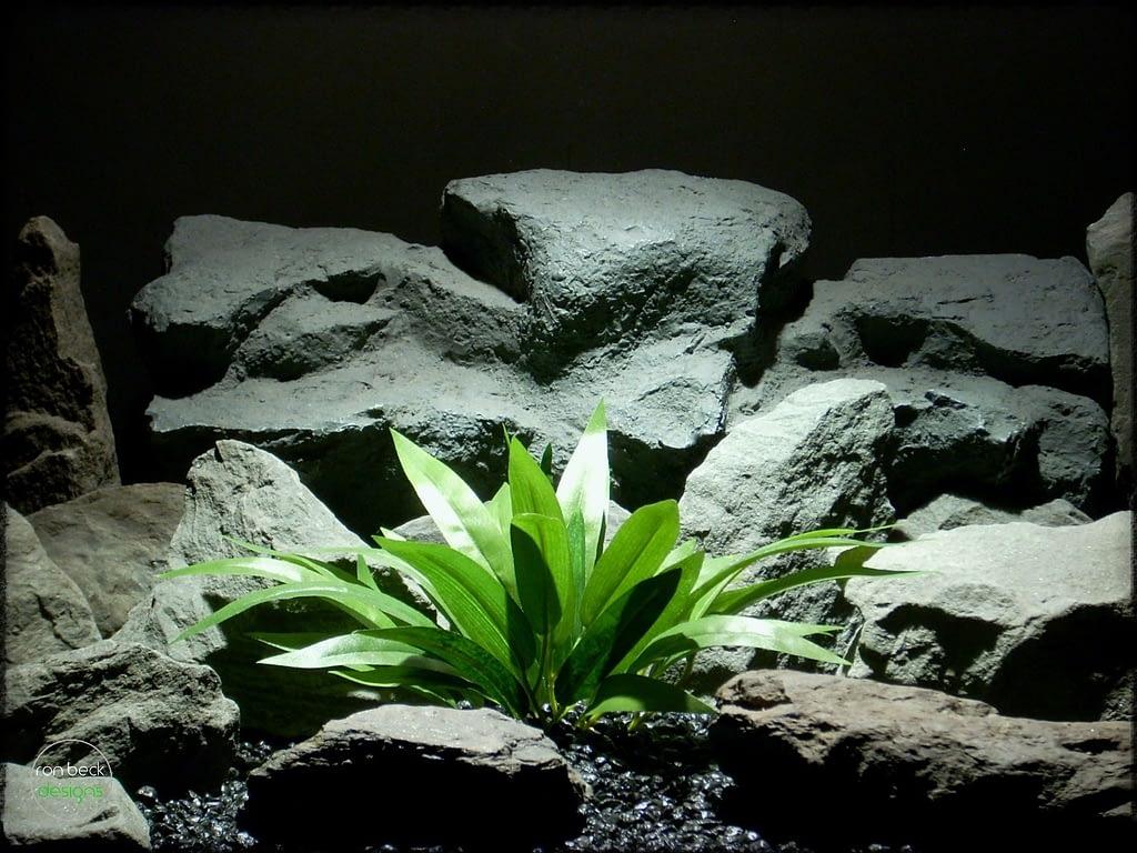 Silk Palm Leaves - Artificial Silk Reptile Plants srp277