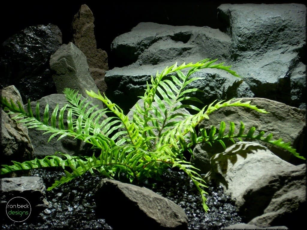 Snake Cage Decor Plants - artificial fern - Ron Beck Designs