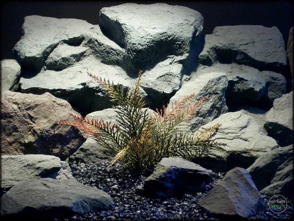 Spiked Fern - Artificial Aquarium Plant - parp289