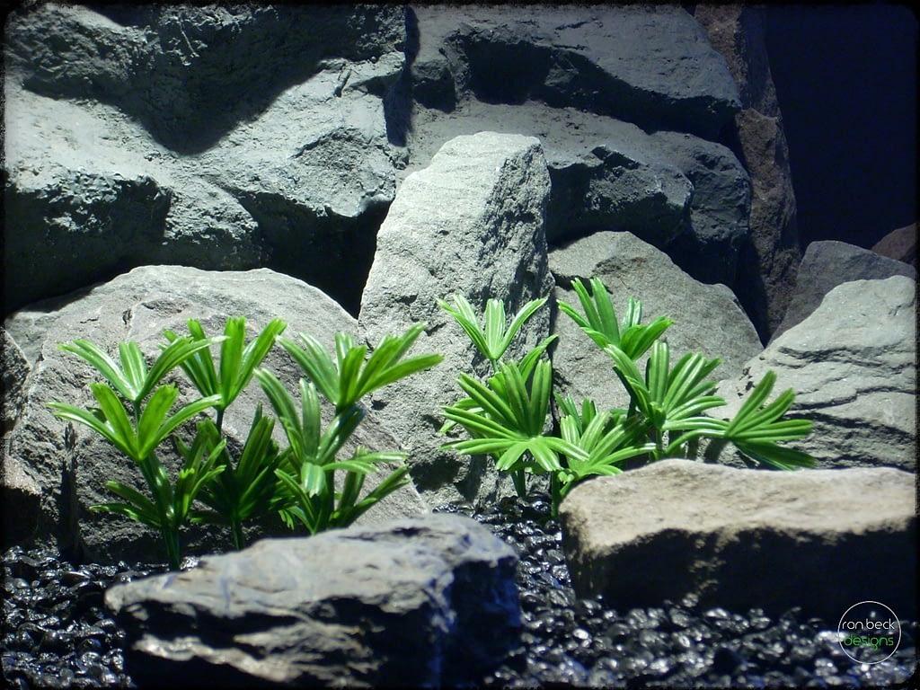 Lady Palm - Artificial Aquarium Reptile Plants - ron beck designs - parp304 2