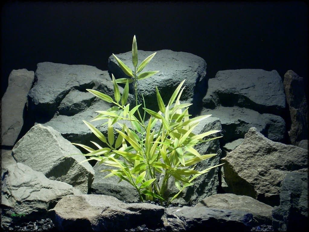 Variegated Bamboo - Artificial Aquarium Plant - parp303