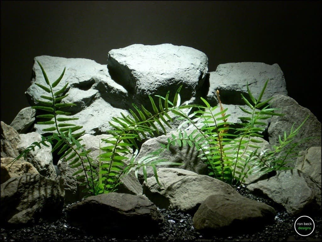 plastic reptile plants| terrarium plants: artificial boston fern prp158 from ron beck designs.