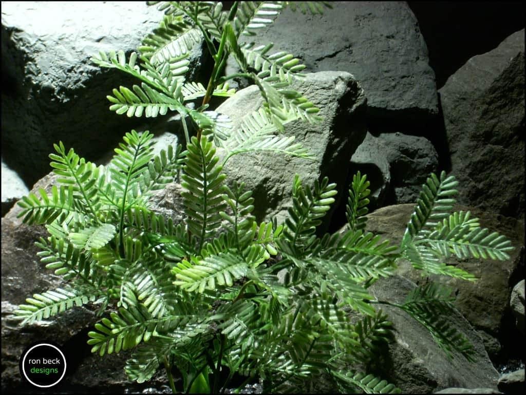 plastic aquarium plant mimosa bush from ron beck designs. 2 pap200