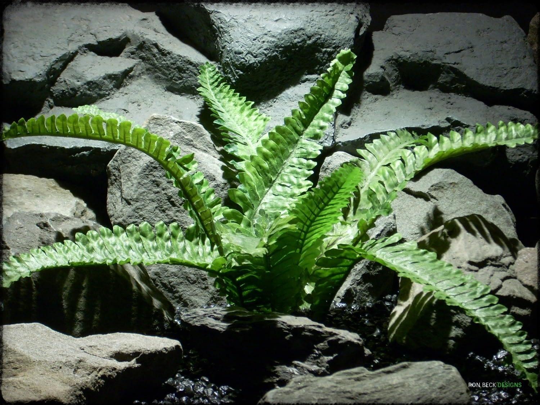 Artificial Boston Fern -Artificial Silk Reptile Plant - srp312 2