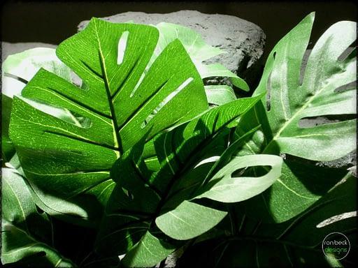 split-leaf philodendron - Artificial Silk Reptile Plant - srp305 2