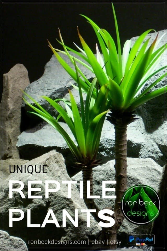 artificial reptile plants | ronbeckdesignscom | ron beck designs