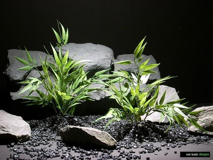plastic aquarium plants bamboo mini lvs pap209 plastic ron beck designs