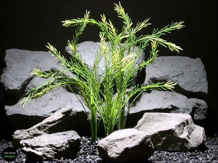 plastic aquarium plants green wheat grass pap045 plstc. plot ron beck designs