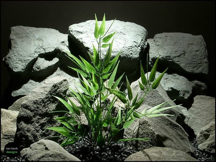 artificial bamboo bush aquarium plant pap142 from ron beck designs