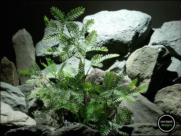 plastic aquarium plant mimosa bush from ron beck designs. pap200