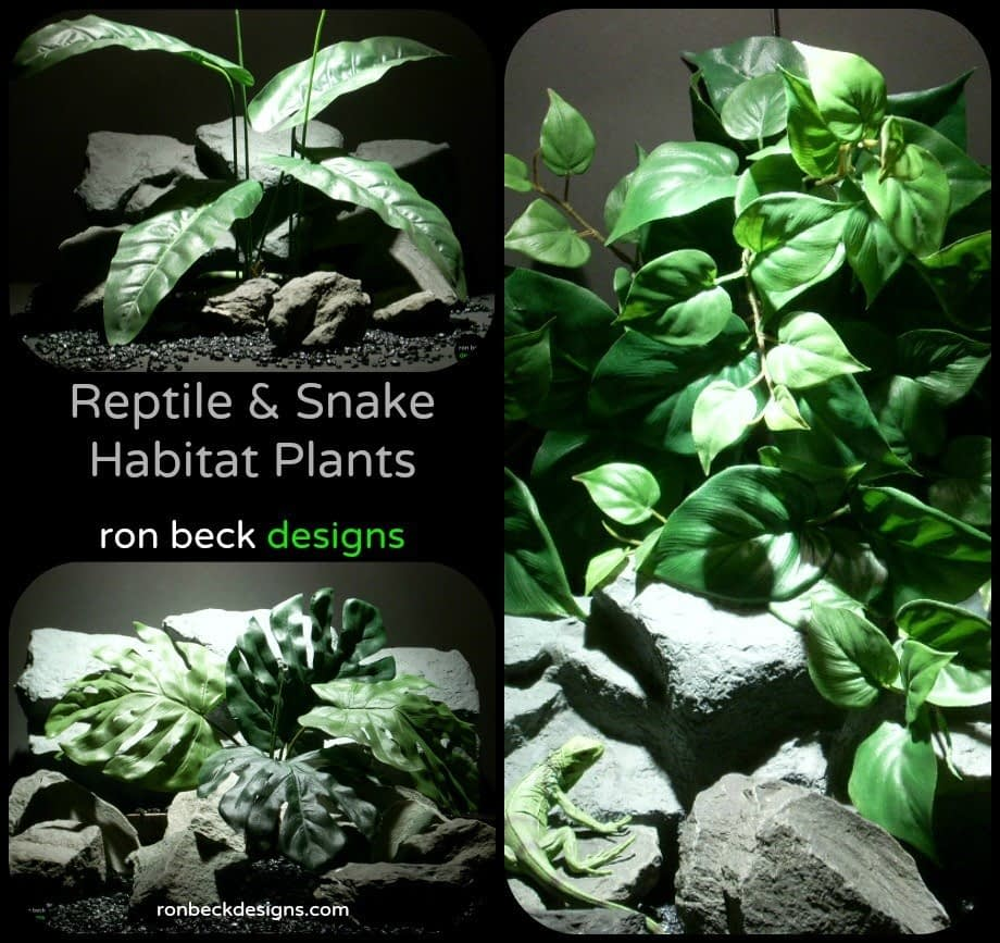 Artificial Reptile Plants and Succulents, Snake Cage Plants | Ron Beck Designs