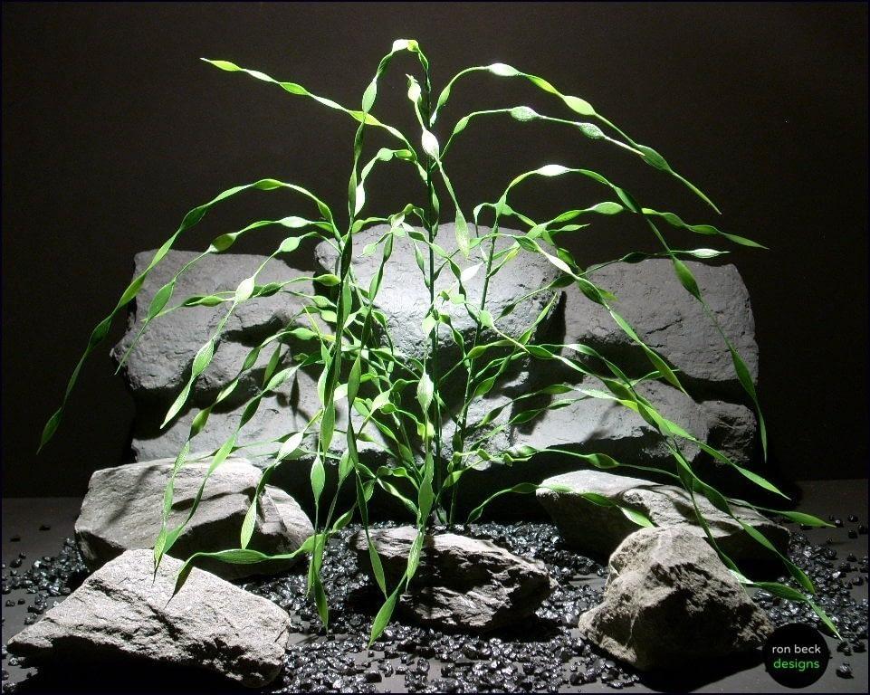 plastic aquarium plants: cork screw grass pap074 by ron beck designs