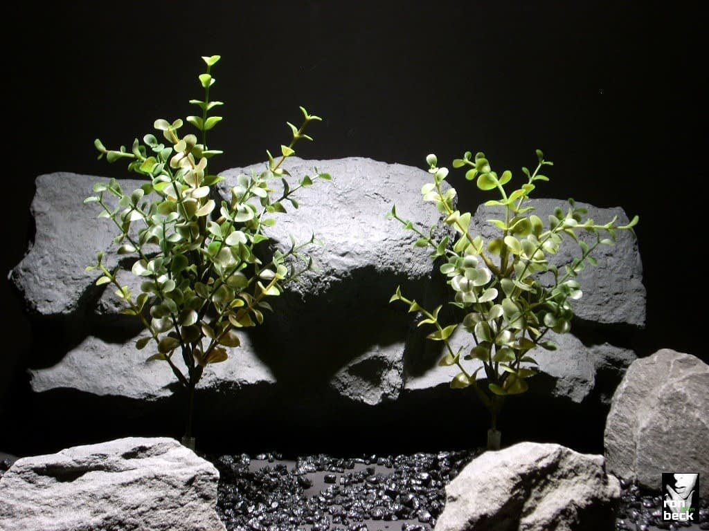 plastic aquarium plants boxwood bush pair pap187 plastic ron beck designs