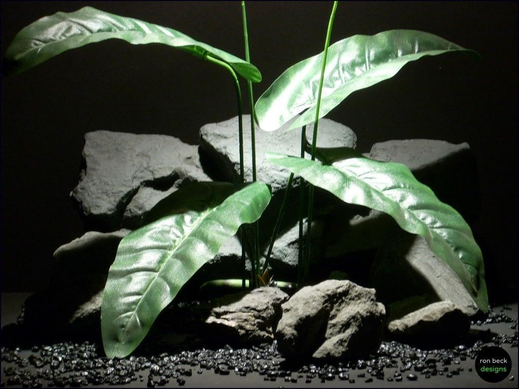 silk reptile habitat plants elephant ear lvs silk srp067 ron beck designs