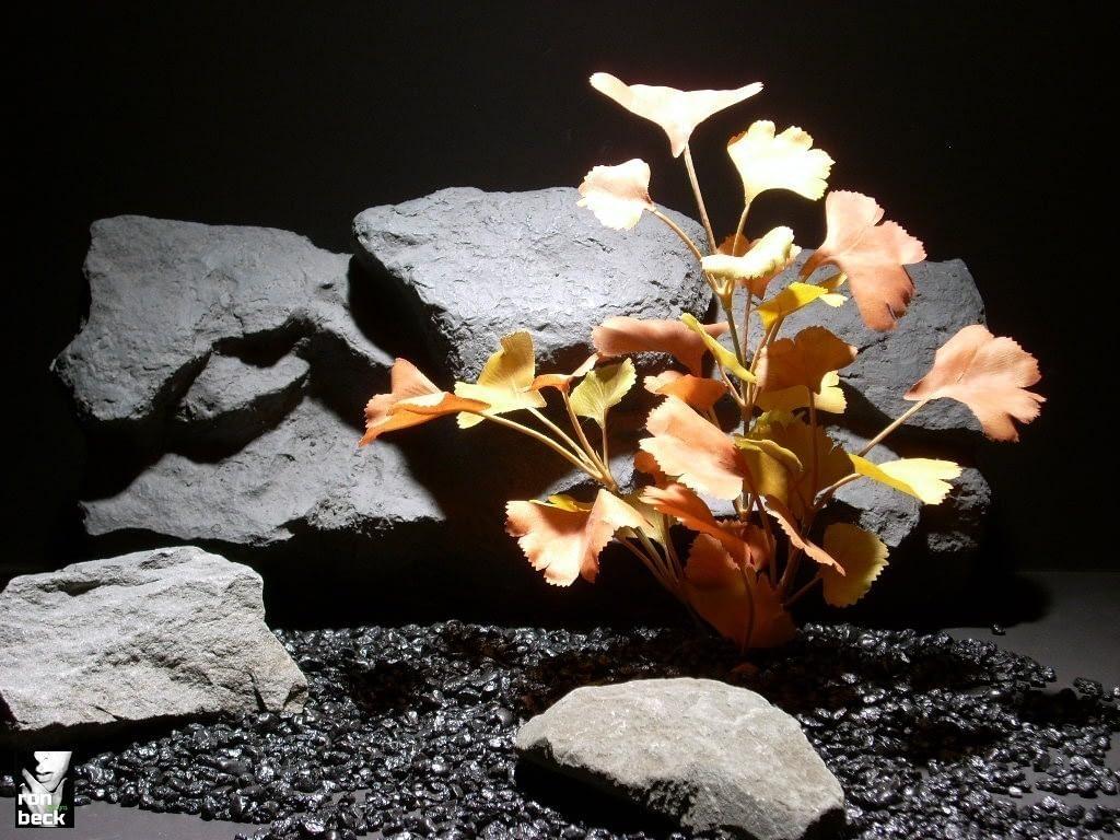reptile habitat plants ginko lvs fall sap401 silk ron beck designs