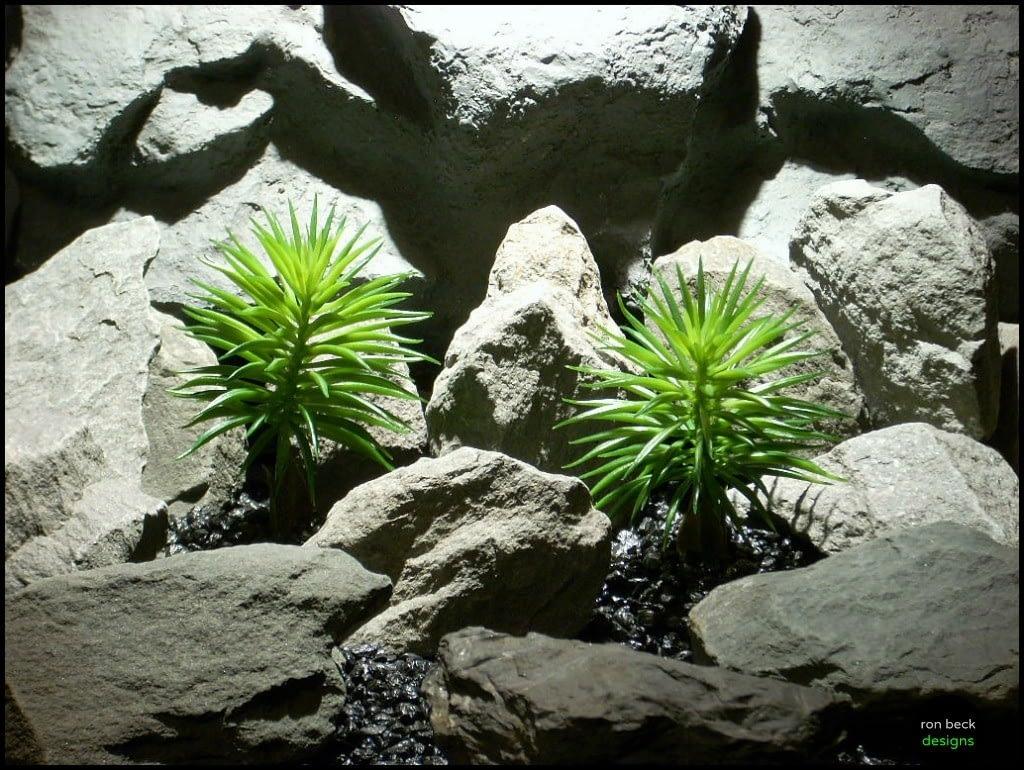 plastic artificial reptile plants pine needle bushs pap139 from ron beck desingns