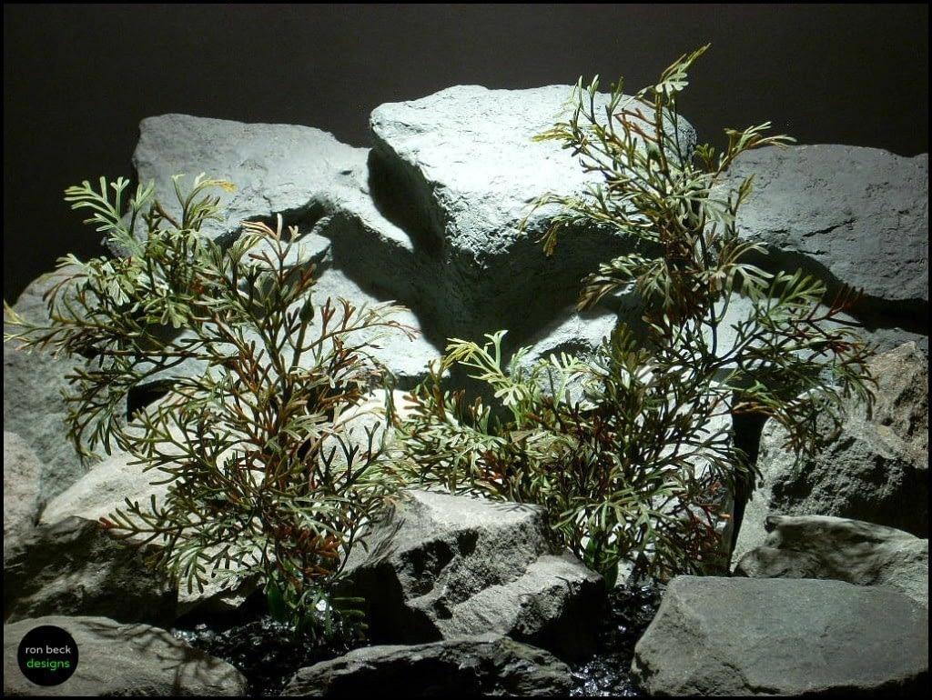 plastic aquarium plants dry look bush's pap145 from ron beck designs
