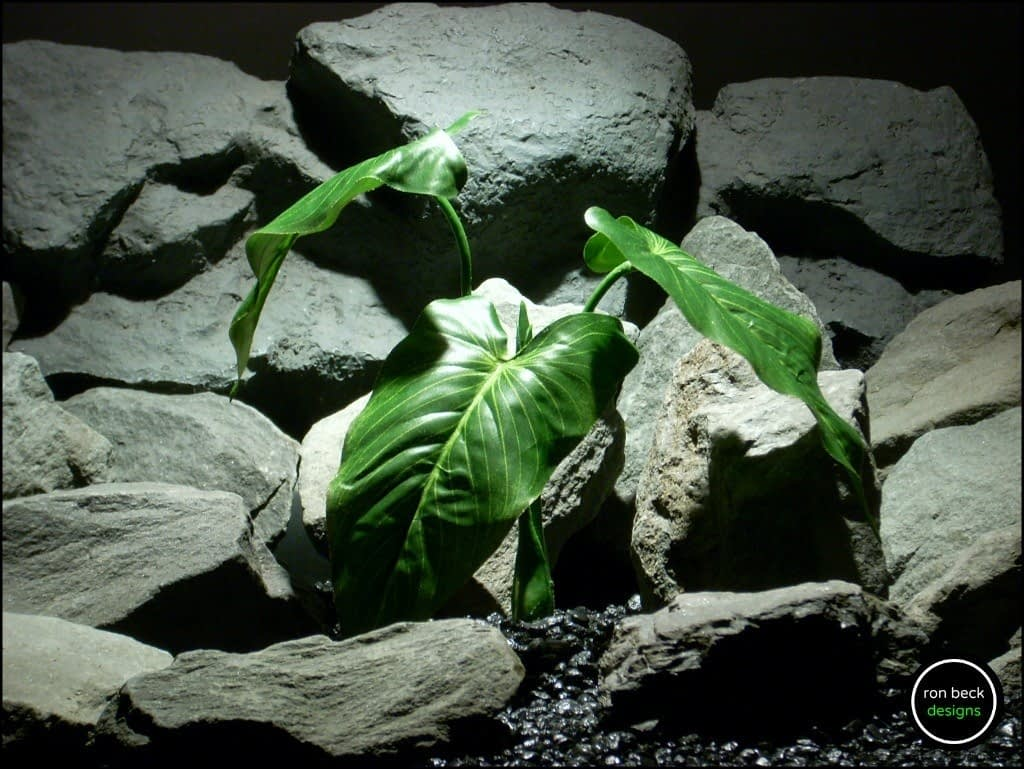 silk reptile plant calla lily leaf bush srp179 from ron beck designs