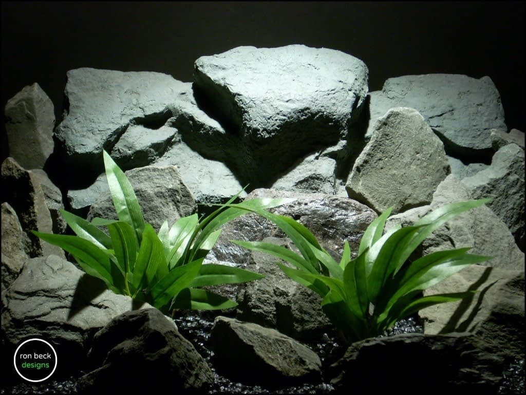 silk aquarium plants palm grass from ron beck designs. sarp192