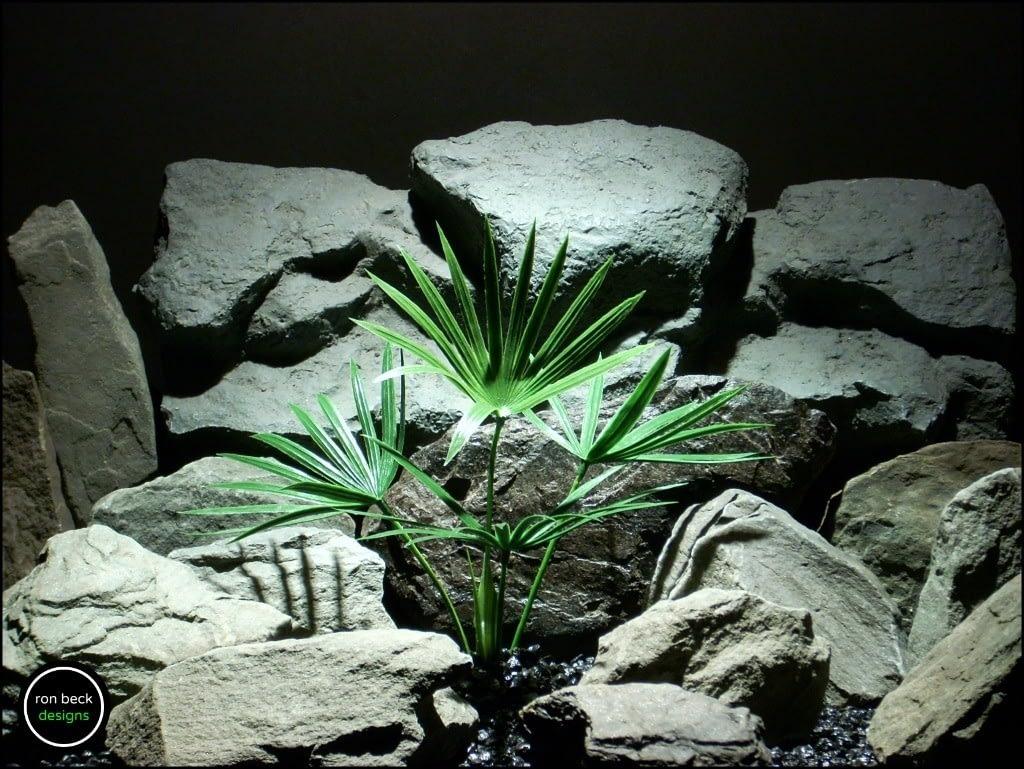 faux aquarium plant reptile terrarium plant papyrus bush pap204