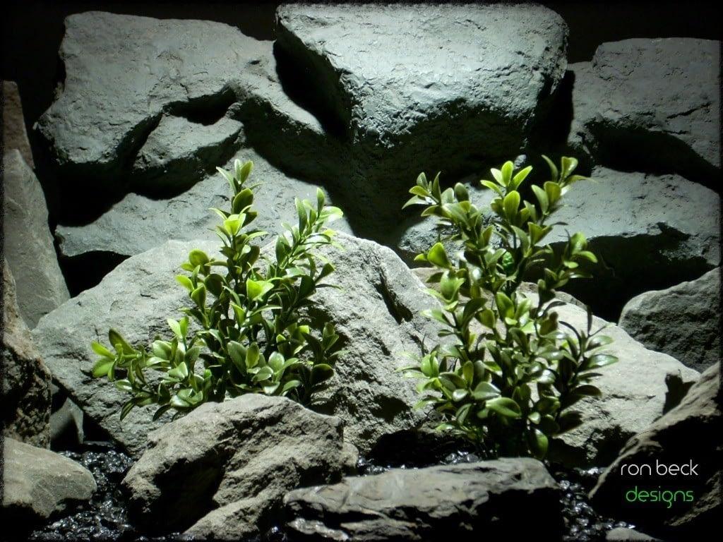 plastic aquarium plants: artificial boxwood bushes from ron beck designs. pap221