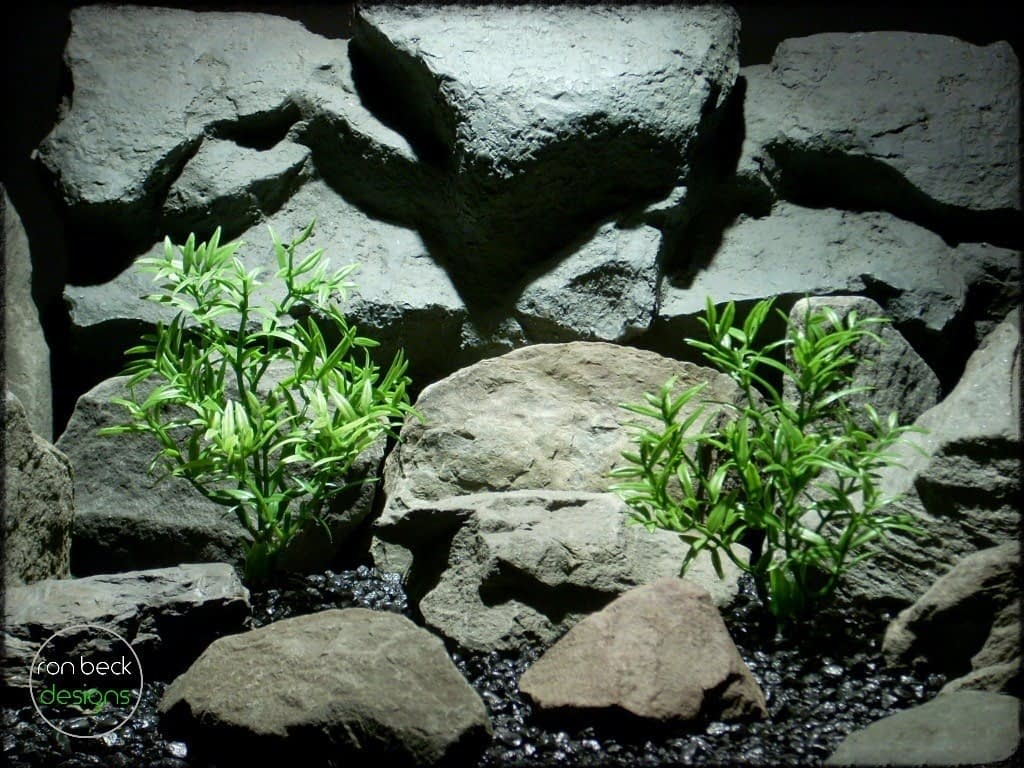 dwarf hygrophila bush artificial aquarium plant pap235