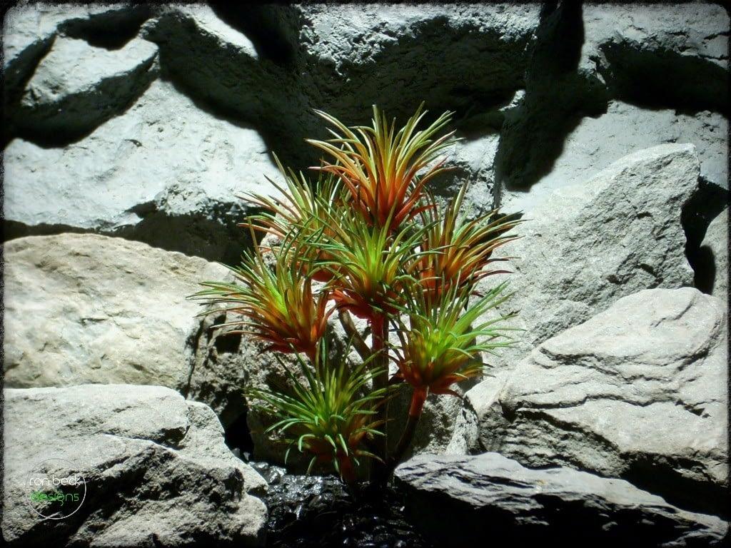 Artificial Tillandsia Plant (green & red) Artificial Reptile Plant prs259 2