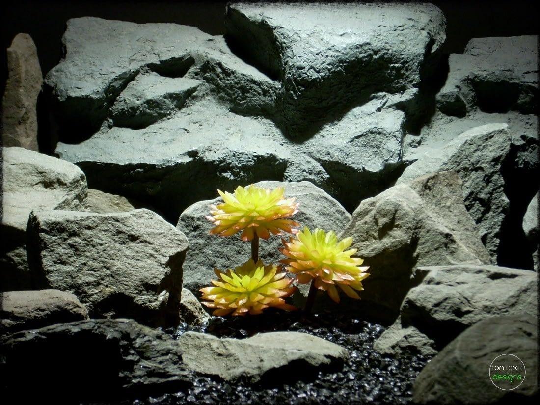 Sempervivum Cmiral Succulent   Artificial Reptile Plant prs265