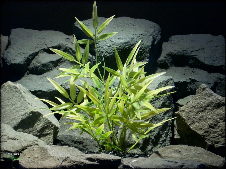 Variegated Bamboo - Artificial Aquarium Plant - parp303 2
