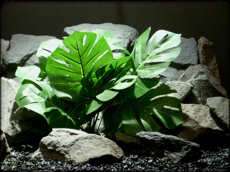 split-leaf philodendron - Artificial Silk Reptile Plant - srp305